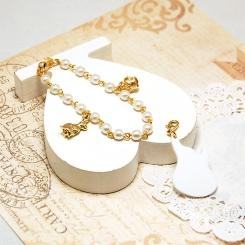 Pearl Bracelet, Heart & Dragon